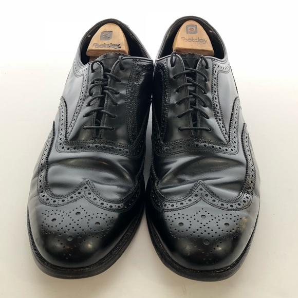 9c94bff100c03 Florsheim Mens Black leather Wingtips size 12E